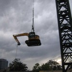 Lift on to site via crane